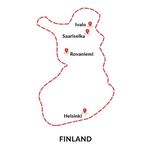 Finland Map-outline