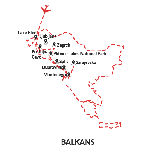 Experience Balkans 14D13N Itinerary