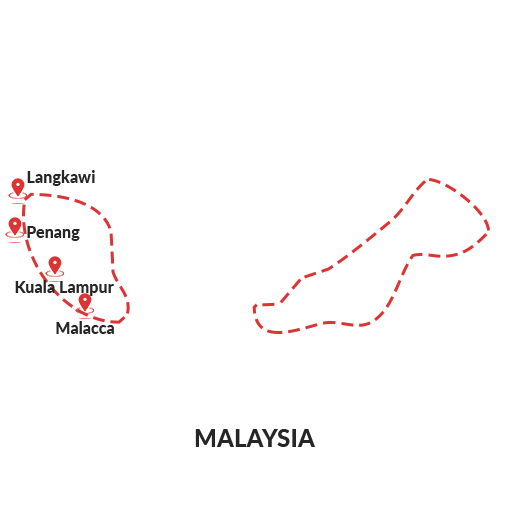 Malaysia Outline Map