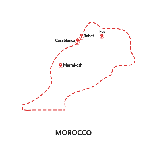 Morocco Map Outline