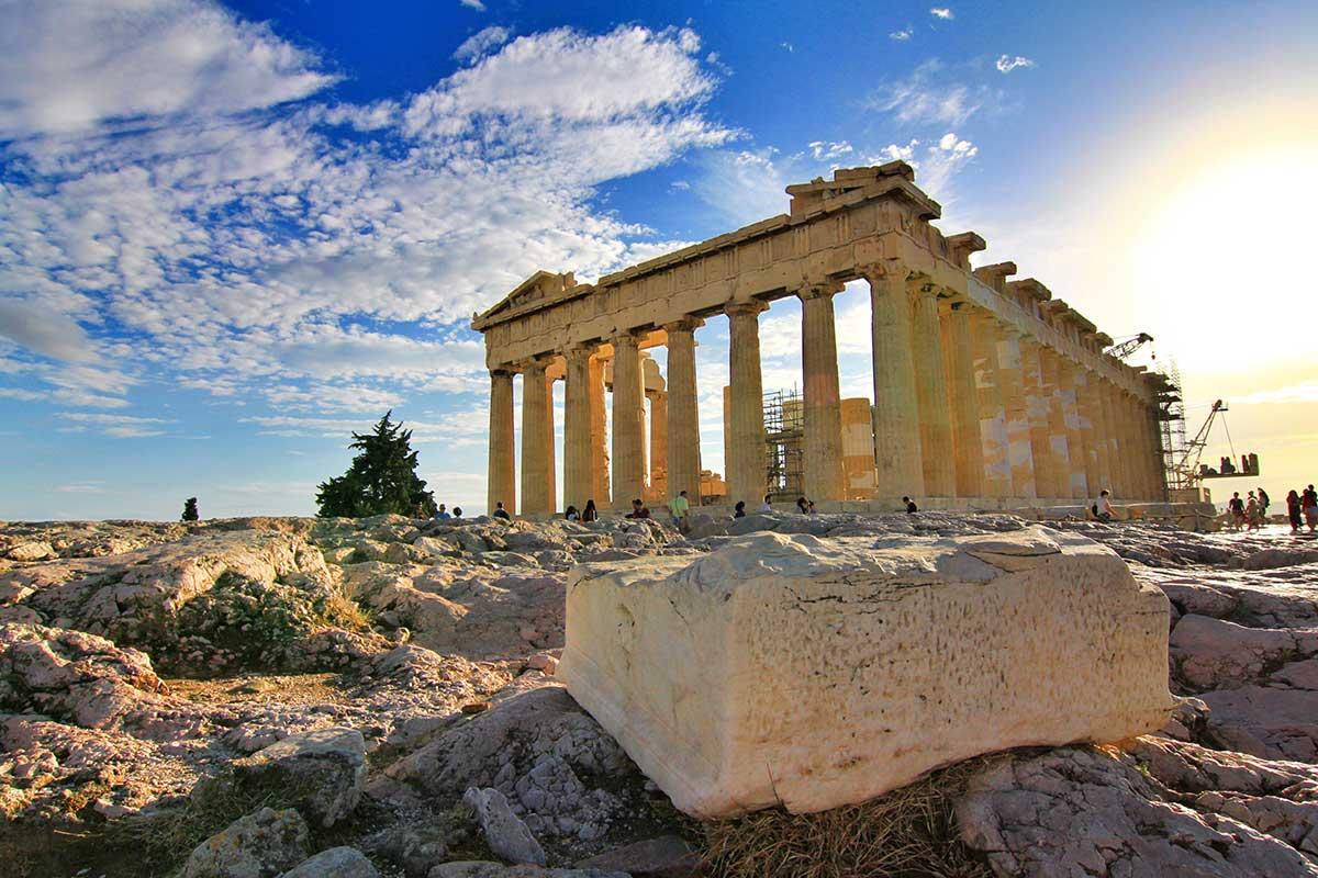 Parthenon-Temple-at-Athen,-Greece