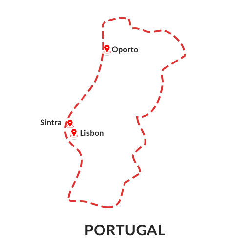 portugal map outline