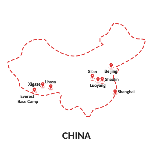 China Map Outline