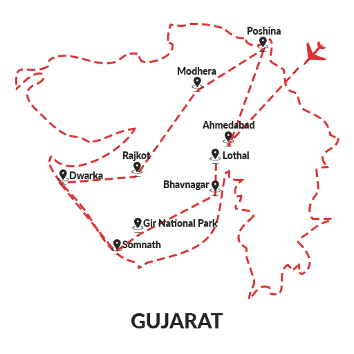 Gujarat History and Wildlife 9D8N