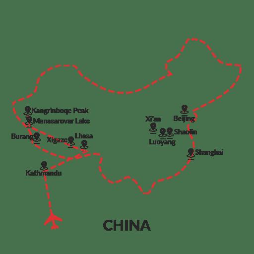 Mount Kailash Through Lhasa
