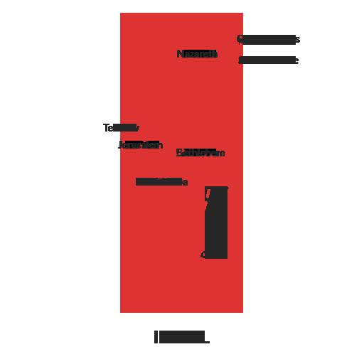 israel map outline