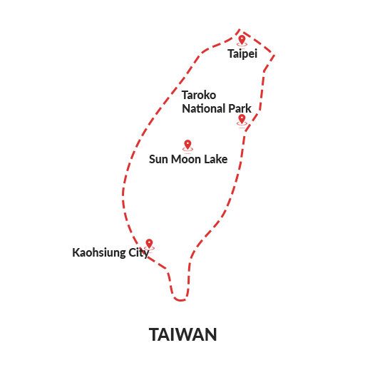 taiwan map outline