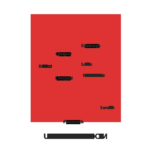 united-kingdom map outline