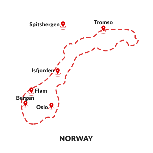 Norway Map Outline